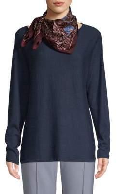 Valentino Graphic Floral Silk Scarf