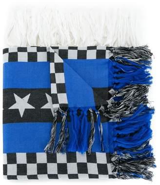 Undercover tasseled pattern scarf
