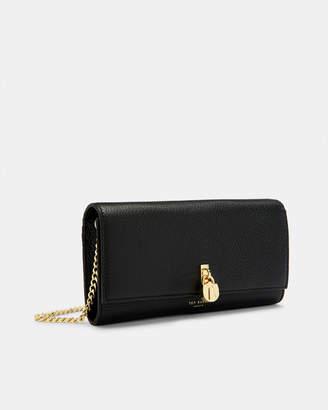 Ted Baker JOSSE Leather padlock cross body matinee purse