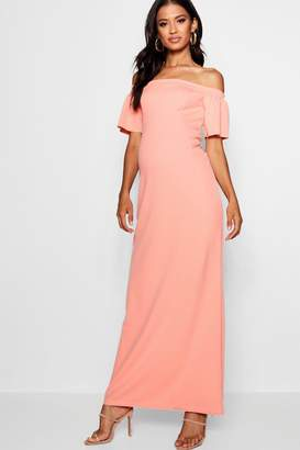 boohoo Maternity Bethany Sleeve Maxi Dress