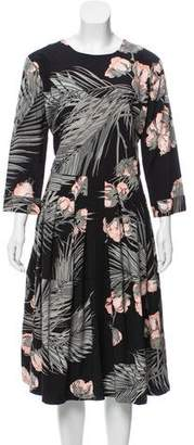 Samantha Sung Floral Midi Dress w/ Tags
