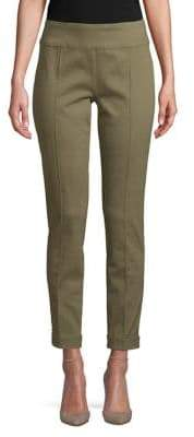 Lord & Taylor Petite Cuffed Seam Slim-Fit Trousers