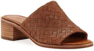 Frye Cindy Woven Leather Mule Sandals