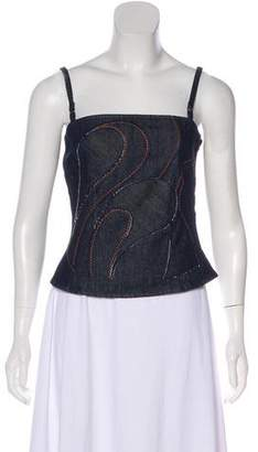 Dolce & Gabbana Denim Sleeveless Top