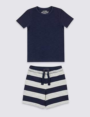 Marks and Spencer 2 Piece T-Shirt & Shorts Outfit (3 Months - 7 Years)