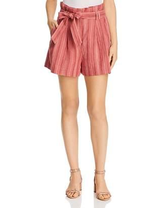Rebecca Taylor High-Rise Striped Shorts