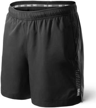 "Saxx Underwear Co. Underwear Mens 7"" Kinetic Run Athletic Short with Ballpark Pouch Dark Charcoal"