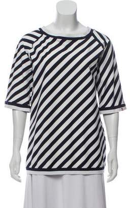 Chanel Striped Scoop Neck Top