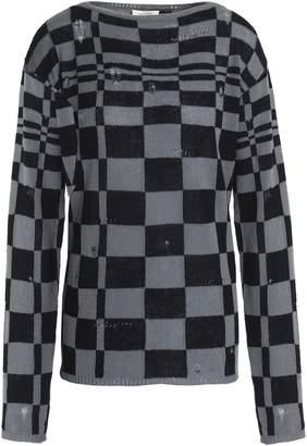 Marc Jacobs (マーク ジェイコブス) - マーク ジェイコブス ヴィンテージ加工 チェック ウール&カシミヤ混 セーター