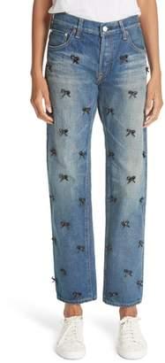 Tu es mon Tresor Petit Ribbon Bow Jeans