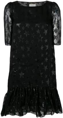 Saint Laurent star pattern midi dress