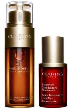 Clarins Face and Eye Wonders S18 Double Serum Total Eye Concentrate Set