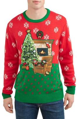 Holiday Men's Yuletide Decoration Ugly Christmas Sweater, Up to size 2XL