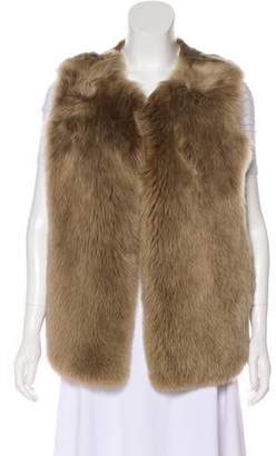 Theory Shearling Open-Front Vest
