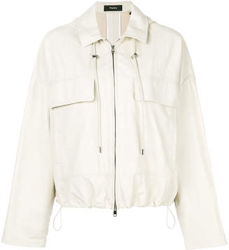Theory casual leather jacket