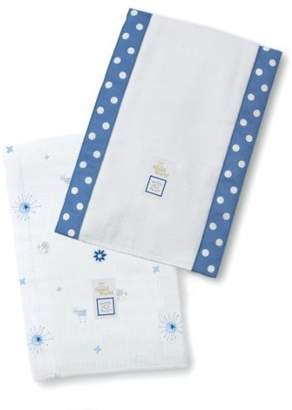 Swaddle Designs Baby Burpies, Disney It's a Small World - Suns & Lambs (Set of 2 in True Blue) (Discontinued by Manufacturer) by Disney
