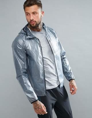 Saucony Running Exo Running Jacket In Gray SAM800015-FSP