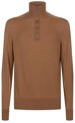 Burberry Half-Zip Knit Sweater