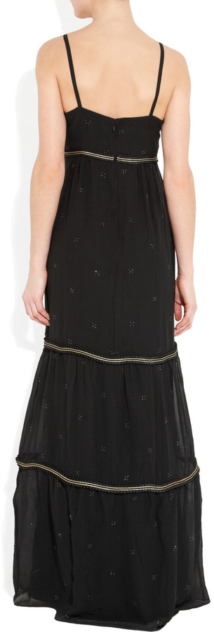 ALICE by Temperley Valiente embellished silk-georgette maxi dress