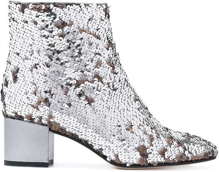 Marc Ellis - sequinned ankle boots - women - Leather - 37