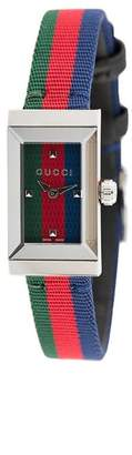 Gucci striped analog watch
