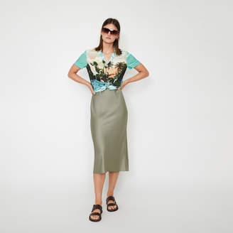 Warehouse Satin Midi Slip Skirt