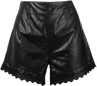Philosophy di Lorenzo Serafini flared vinyl shorts