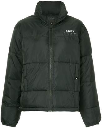 Obey cropped padded jacket