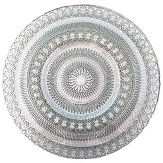 """Red Pomegranate Florence 13"""" Silver Charger Plate"""