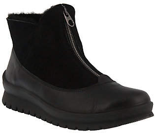 Spring Step Flexus by Leather Booties - Claudira