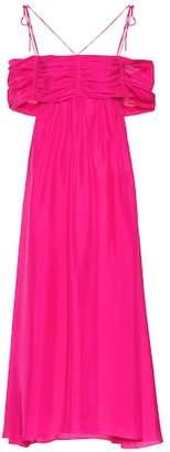 Isa Arfen Off-the-shoulder silk midi dress