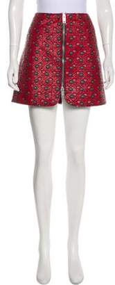 Isabel Marant Embroidered Quilted Skirt Red Embroidered Quilted Skirt
