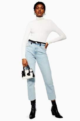 Topshop Bleach Hybrid Straight Leg Jeans
