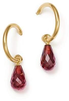 Bloomingdale's Garnet Briolette Hoop Drop Earrings in 14K Yellow Gold - 100% Exclusive