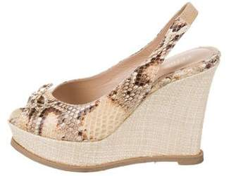 fd8d79742a8b Pre-Owned at TheRealReal · Fendi Snakeskin Platform Wedge Sandals