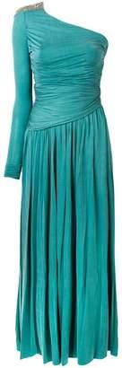 Elisabetta Franchi one shoulder gown