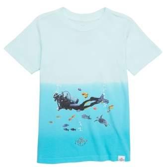 Kid Dangerous Scuba Surfer Graphic T-Shirt