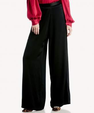 Sole Society Flat Front Wide Leg Pant w/ Side Slits
