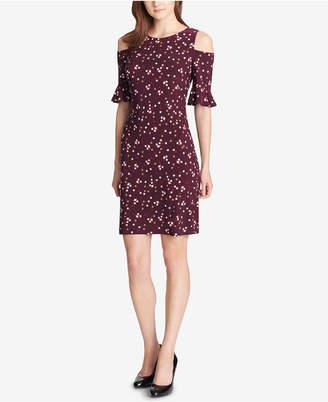 Tommy Hilfiger Cold-Shoulder A-Line Dress