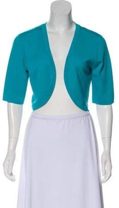 Michael Kors Crop Wool Cardigan Aqua Crop Wool Cardigan