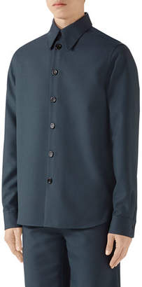 Gucci Men's Military Drill Sport Shirt