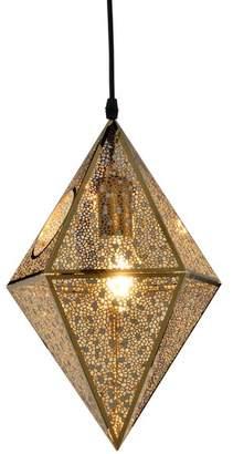 Tom Dixon Gold Replica Etch Prism Pendant Light