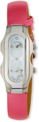 Philip Stein Teslar Stainless Steel Diamond Mini Signature Watch Mother-of-Pearl\/Pink