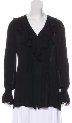 Rachel Zoe Long Sleeve Button-Up Blouse