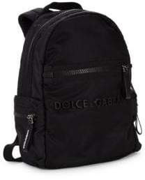 Dolce & Gabbana Kid's Logo Zip Backpack