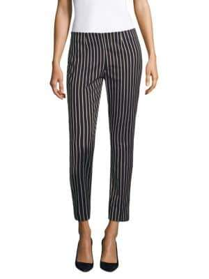 Piazza Sempione Emanuela Striped Ankle Pants
