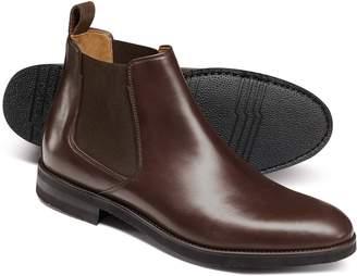 Charles Tyrwhitt Chocolate Extra Lightweight Chelsea Boots Size 13