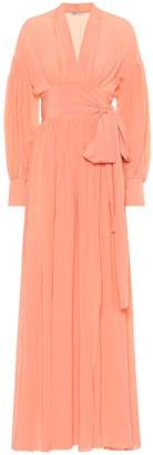 Three Graces London Francille silk crepe de chine dress