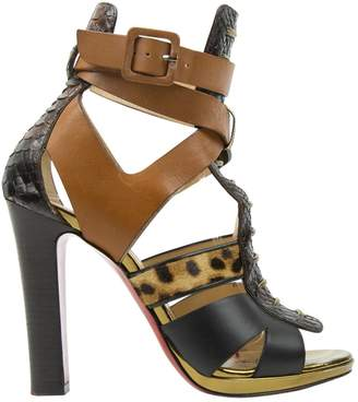 Christian Louboutin Brown Water snake Heels