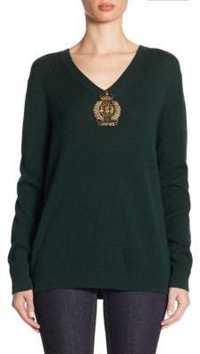 Ralph Lauren Collection Cashmere V-Neck Pullover $1,390 thestylecure.com